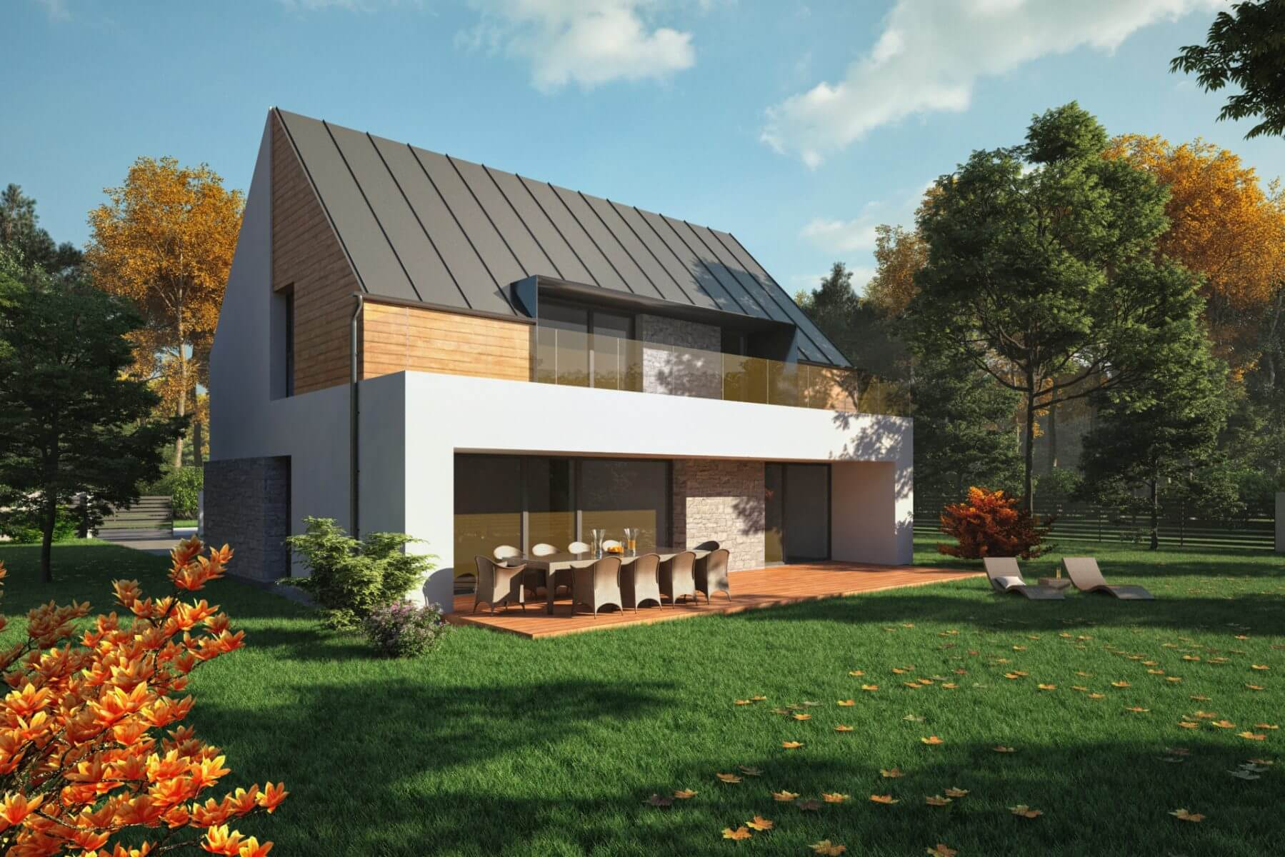 Projekt Dom jednorodzinny Myślenice 1a Biuro projektowe Biuro Architektoniczne Format architekt projekty domów